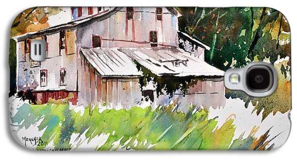 Grist Mill Paintings Galaxy S4 Cases - Morrison Mill Burnt Prairie Illinois Galaxy S4 Case by Spencer Meagher