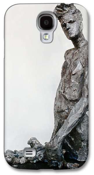 Celebrities Sculptures Galaxy S4 Cases - Morrissey Galaxy S4 Case by Karen Swenholt