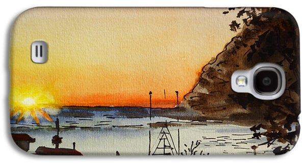 Morro Bay - California Sketchbook Project Galaxy S4 Case by Irina Sztukowski