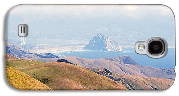 Famous Highway 1 In California Galaxy S4 Cases - Morro Bay Rock Vista Overlooking Highway 46 Paso Robles California Galaxy S4 Case by Artist and Photographer Laura Wrede