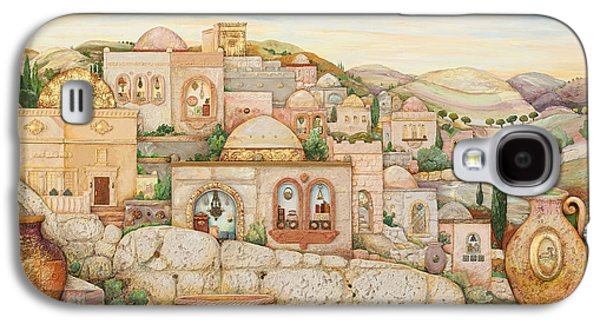 Ancient Paintings Galaxy S4 Cases - Mosaic Jerusalem  Galaxy S4 Case by Michoel Muchnik