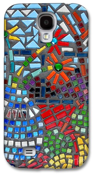 Still Life Glass Art Galaxy S4 Cases - Mosaic Still Life Galaxy S4 Case by Caroline Street