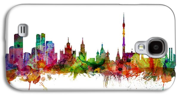 Moscow Russia Skyline Galaxy S4 Case by Michael Tompsett