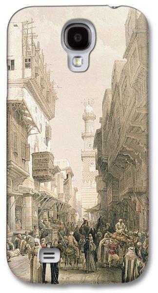 Perspective Paintings Galaxy S4 Cases - Mosque El Mooristan Galaxy S4 Case by David Roberts