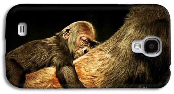 Gorilla Digital Galaxy S4 Cases - Mother and Child 20150210brun Galaxy S4 Case by Wingsdomain Art and Photography