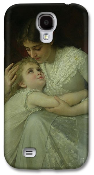 Embracing Galaxy S4 Cases - Mother and Child Galaxy S4 Case by Emile Munier