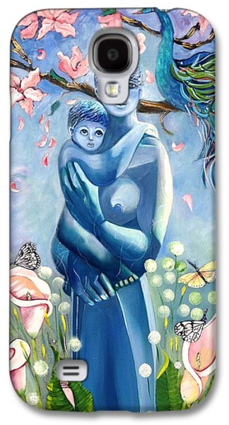 Statue Portrait Mixed Media Galaxy S4 Cases - Mother and Child Galaxy S4 Case by Susan Robinson