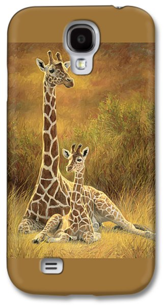 African Paintings Galaxy S4 Cases - Mother and Son Galaxy S4 Case by Lucie Bilodeau