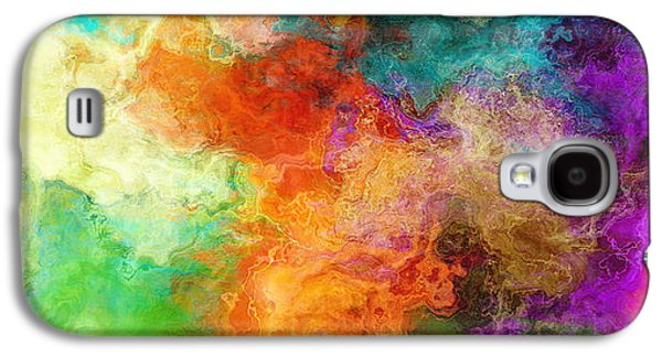 Mother Galaxy S4 Cases - Mother Earth - Abstract Art Galaxy S4 Case by Jaison Cianelli