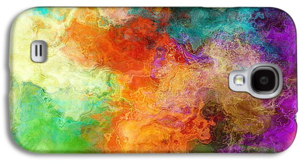 Abstract Prints For Sale Paintings Galaxy S4 Cases - Mother Earth - Abstract Art Galaxy S4 Case by Jaison Cianelli