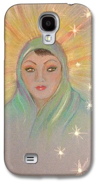 Religious Pastels Galaxy S4 Cases - Mother Mary Galaxy S4 Case by Ronnie Egerton