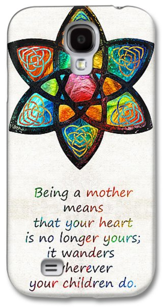 Sisters Paintings Galaxy S4 Cases - Mother Mom Art - Wandering Heart - By Sharon Cummings Galaxy S4 Case by Sharon Cummings