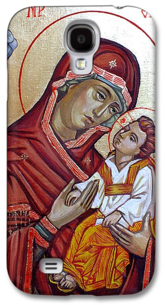 Orthodox Icon Galaxy S4 Cases - Mother of God Galaxy S4 Case by Filip Mihail