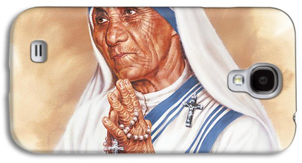 Mercy Galaxy S4 Cases - Mother Teresa Galaxy S4 Case by Dick Bobnick