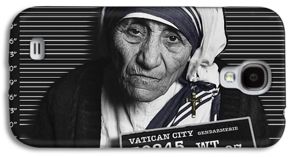 Police Paintings Galaxy S4 Cases - Mother Teresa Mug Shot Galaxy S4 Case by Tony Rubino