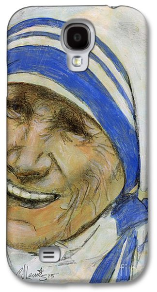 Spiritual Portrait Of Woman Galaxy S4 Cases - Mother Teresa Galaxy S4 Case by P J Lewis