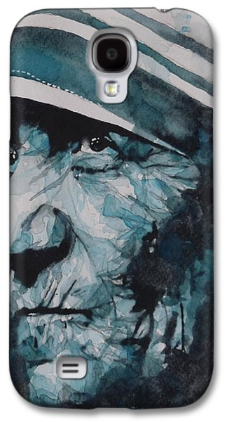 Holy Mother Galaxy S4 Cases - Mother Teresa Galaxy S4 Case by Paul Lovering