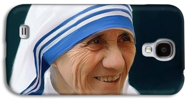 Holy Mother Galaxy S4 Cases - Mother Teresa Galaxy S4 Case by Paul Tagliamonte