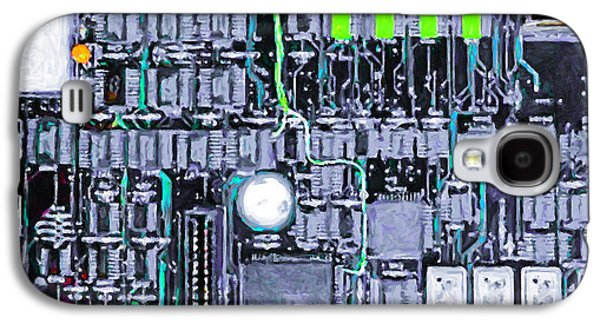 Circuit Board Galaxy S4 Cases - Motherboard Abstract 20130716 p38 square Galaxy S4 Case by Wingsdomain Art and Photography
