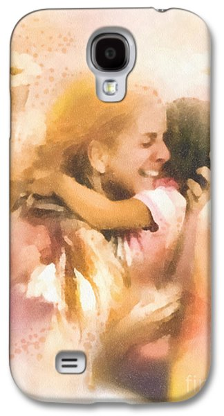 Missing Child Paintings Galaxy S4 Cases - Mothers Arms Galaxy S4 Case by Mo T