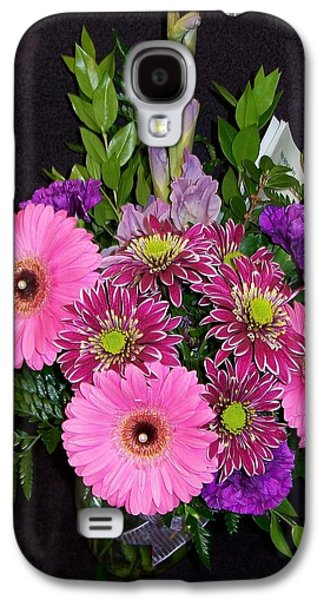 Gladiolas Paintings Galaxy S4 Cases - Mothers Day Bouquet Galaxy S4 Case by Sharon Duguay