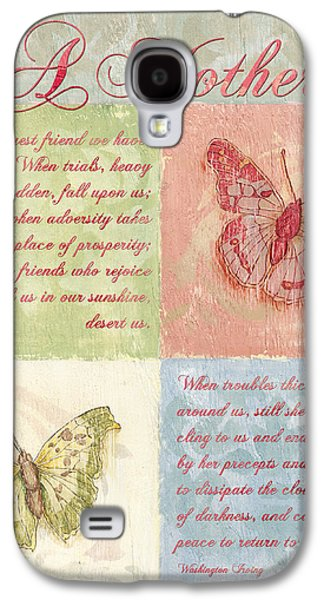 Words Galaxy S4 Cases - Mothers Day Butterfly card Galaxy S4 Case by Debbie DeWitt