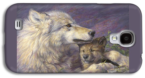 Puppies Galaxy S4 Cases - Mothers Love Galaxy S4 Case by Lucie Bilodeau
