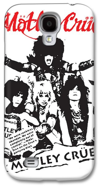 Famous Artist Galaxy S4 Cases - Motley Crue No.01 Galaxy S4 Case by Caio Caldas