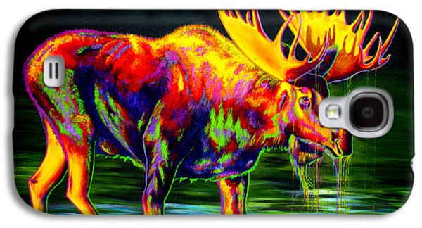 Abstract Art Canvas Paintings Galaxy S4 Cases - Motley Moose Galaxy S4 Case by Teshia Art
