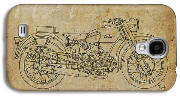 Industrial Drawings Galaxy S4 Cases - Moto Guzzi Airone 250 1939 Galaxy S4 Case by Pablo Franchi