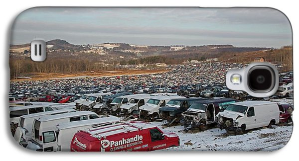 Motor Vehicles At A Scrapyard Galaxy S4 Case by Jim West