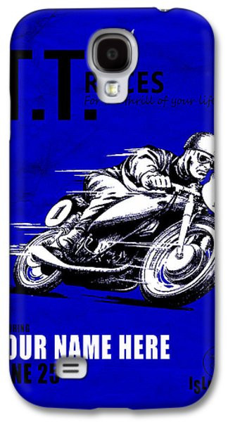 Customized Galaxy S4 Cases - Motorcycle Customized Poster 3 Galaxy S4 Case by Mark Rogan