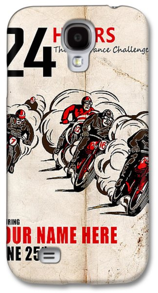Personalize Galaxy S4 Cases - Motorcycle Customized Poster 5 Galaxy S4 Case by Mark Rogan