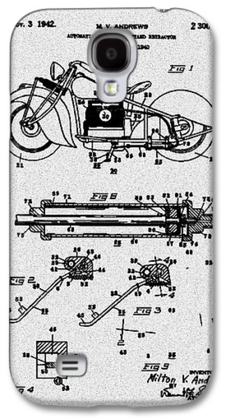 Drawing Of The Factory Galaxy S4 Cases - Motorcycle Stand Gray Galaxy S4 Case by Brian Lambert