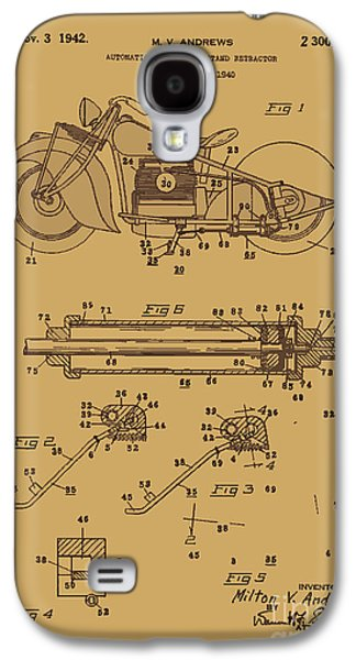 Drawing Of The Factory Galaxy S4 Cases - Motorcycle Stand Rust Galaxy S4 Case by Brian Lambert