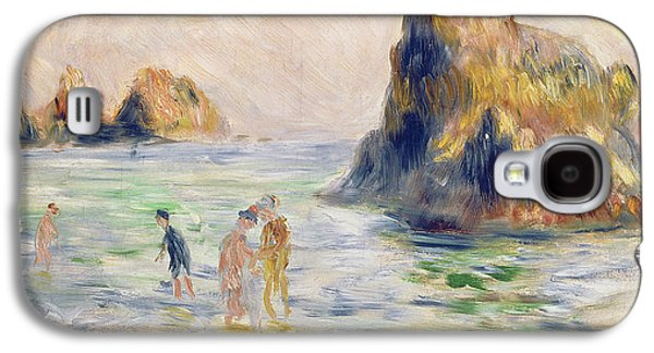 Pastimes Galaxy S4 Cases - Moulin Huet Bay Guernsey Galaxy S4 Case by Pierre Auguste Renoir
