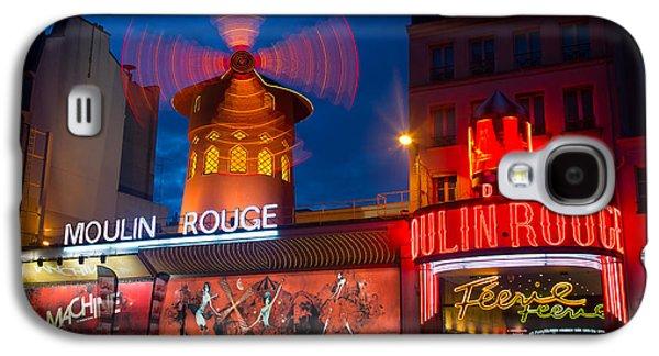 Europa Galaxy S4 Cases - Moulin Rouge en Soir Galaxy S4 Case by Inge Johnsson