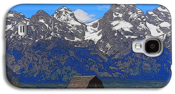 Landscape With Mountains Galaxy S4 Cases - Moulton Barn In Grand Teton National Park Galaxy S4 Case by Dan Sproul