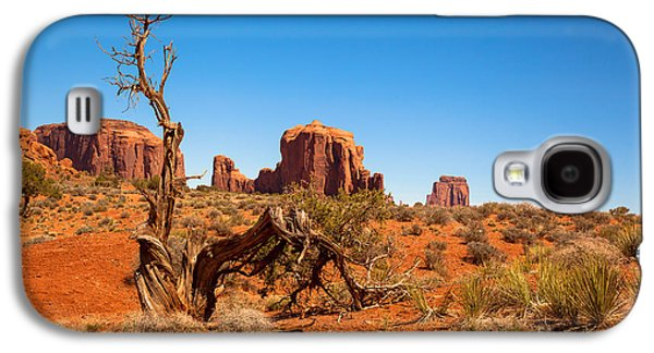 Monument Galaxy S4 Cases - Moument Valley and tree stump Galaxy S4 Case by Jane Rix