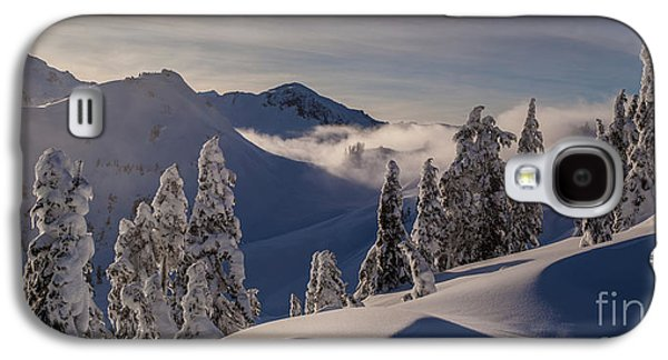 Moonrise Galaxy S4 Cases - Mount Baker Snowscape Galaxy S4 Case by Mike Reid