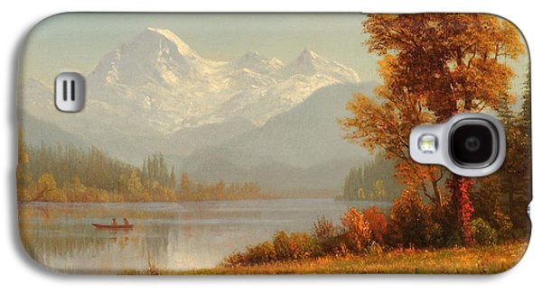 Steer Paintings Galaxy S4 Cases - Mount Baker Washington Galaxy S4 Case by Albert Bierstadt