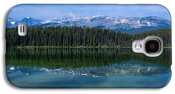 Snow Capped Galaxy S4 Cases - Mount Edith Cavell from Leach Lake.  Galaxy S4 Case by Cale Best