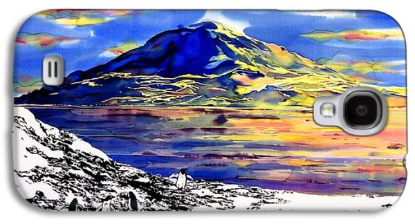 Animals Tapestries - Textiles Galaxy S4 Cases - Mount Erebus Antarctica Galaxy S4 Case by Carolyn Doe
