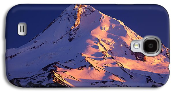 River Scenes Photographs Galaxy S4 Cases - Mount Hood last Light Galaxy S4 Case by Darren  White