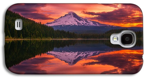 Storm Prints Photographs Galaxy S4 Cases - Mount Hood Sunrise Galaxy S4 Case by Darren  White