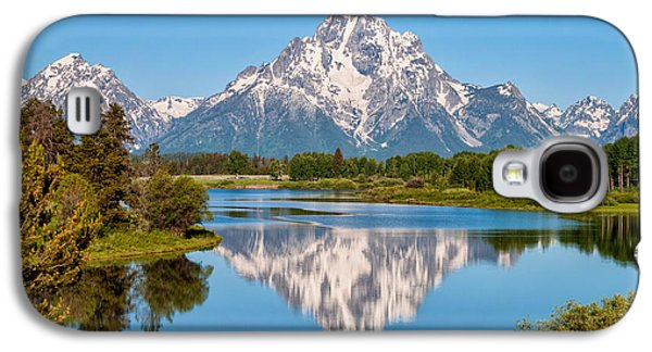 Mount Moran On Snake River Landscape Galaxy S4 Case by Brian Harig