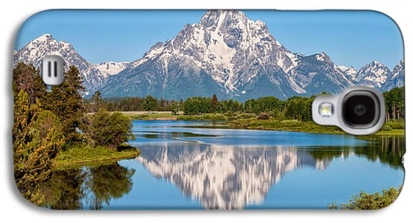 Nature Photographs Galaxy S4 Cases - Mount Moran on Snake River Landscape Galaxy S4 Case by Brian Harig