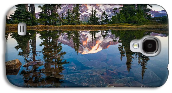 Strong America Galaxy S4 Cases - Mount Rainier Tarn Galaxy S4 Case by Inge Johnsson