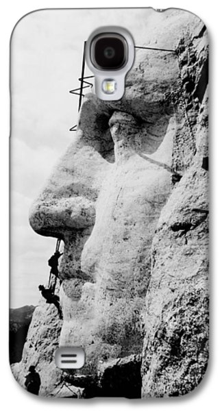 Mount Rushmore Construction Photo Galaxy S4 Case by War Is Hell Store