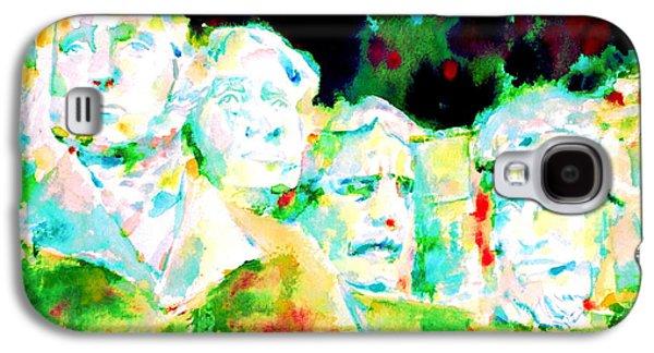 Statue Portrait Galaxy S4 Cases - Mount Rushmore  Galaxy S4 Case by Fabrizio Cassetta